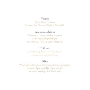 Guest Information Cards Baby's breath (square) white