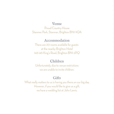 Guest Information Cards Baby's breath (square) white finition
