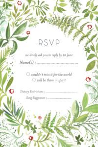 RSVP Cards Forest whisper green