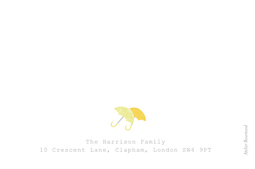 Baby Thank You Cards Wellies (twins) yellow - Page 2