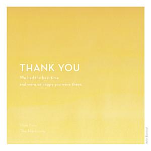 Watercolour yellow yellow wedding thank you cards