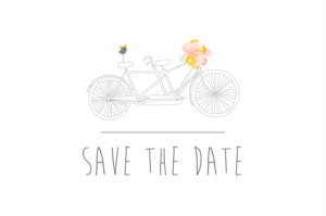 Save The Dates Tandem pink
