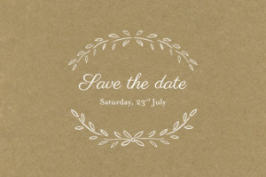 Save The Dates Poem kraft