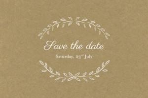Save The Dates Poem kraft