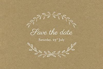 Save The Dates Poem kraft finition