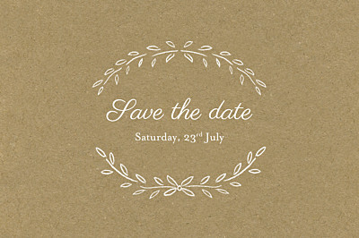 Save The Date Cards Poem kraft finition