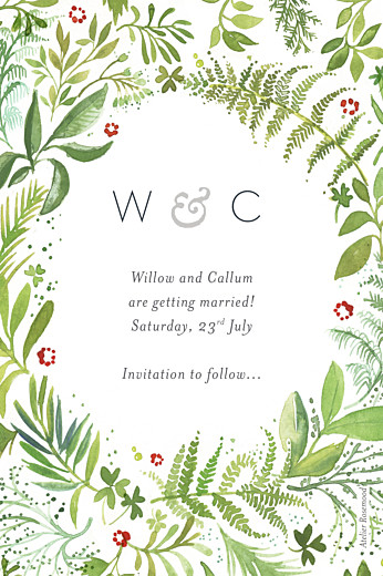 Save The Date Cards Forest whisper green - Page 2