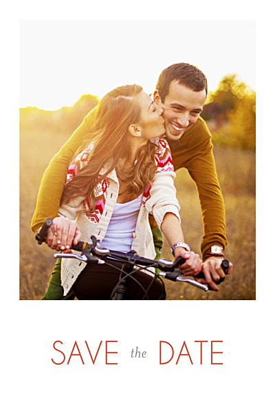 Save The Dates Rustic promise white finition