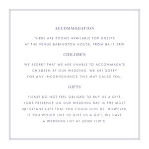 Guest Information Cards Kraft essential violet-blue