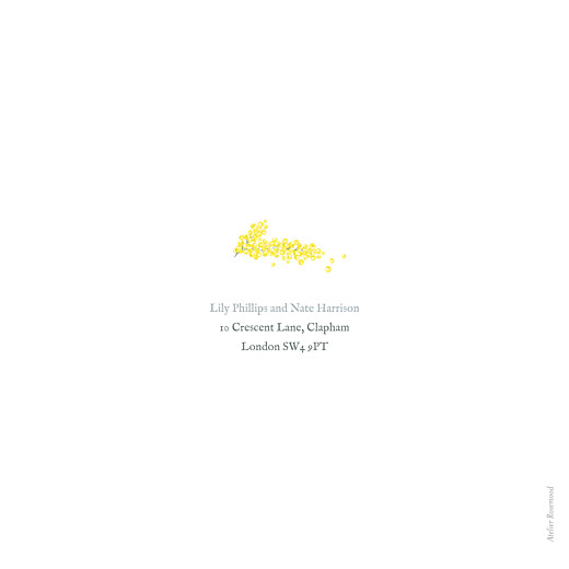 Wedding Invitations Mimosa (square) yellow - Page 2