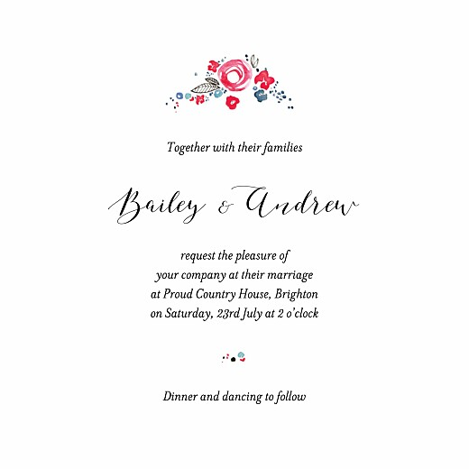 Wedding Invitations Romance (4 pages) white - Page 3