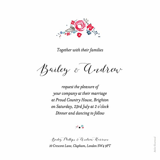 Wedding Invitations Romance white - Page 2