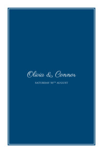 Wedding Invitations Chic navy blue