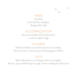 Guest Information Cards Rustic promise white