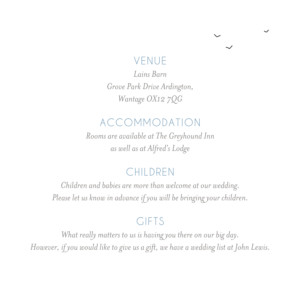 Guest Information Cards Beach promise white