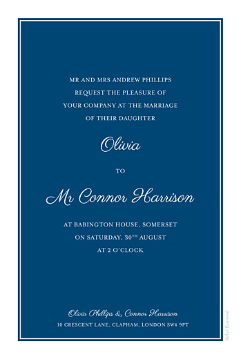 Wedding Invitations Chic navy blue - Page 2