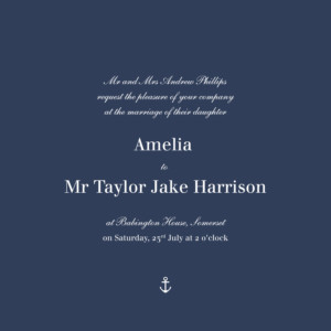 Wedding Invitations Nautical blue