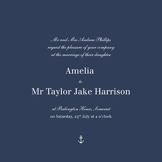 Wedding Invitations Nautical blue