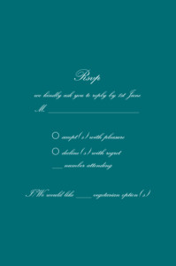RSVP Cards Tradition green