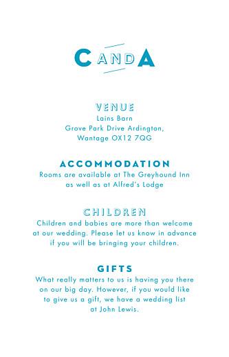 Guest Information Cards Declaration kraft