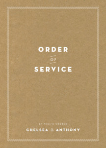 Order of Service Booklets Declaration kraft