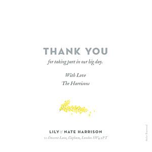 Mimosa yellow louise pianetti wedding thank you cards