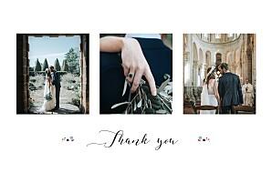 Wedding Thank You Cards Romance white