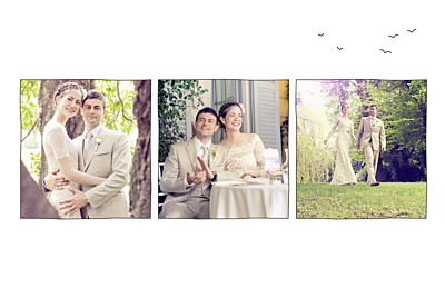 Wedding Thank You Cards Rustic promise (3 photos) white finition