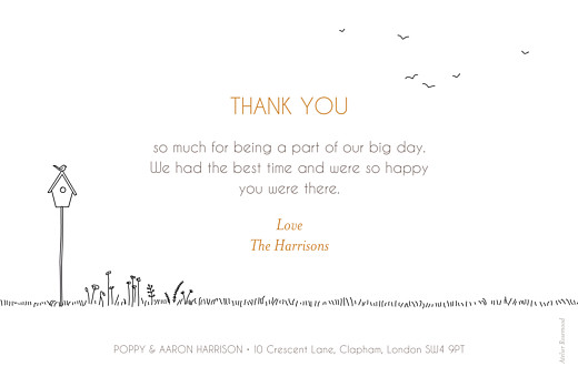 Wedding Thank You Cards Rustic promise (3 photos) white - Page 2