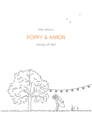 Wedding Order of Service Booklets Rustic promise white
