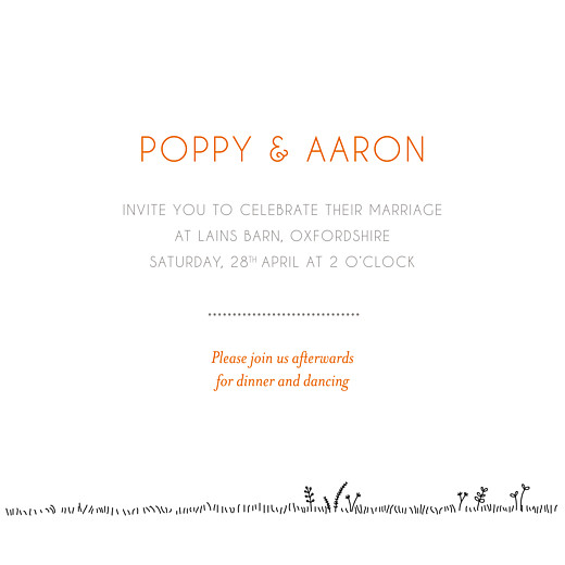 Wedding Invitations Rustic promise (4 pages) white - Page 3