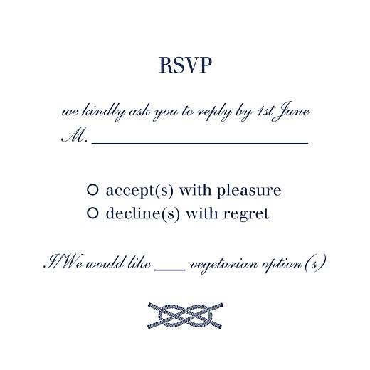 RSVP Cards Nautical blue
