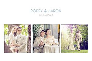 Marion bizet beach promise white wedding thank you cards