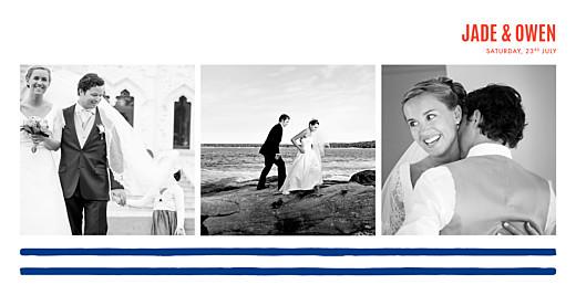 Wedding Thank You Cards Mariniere navy blue