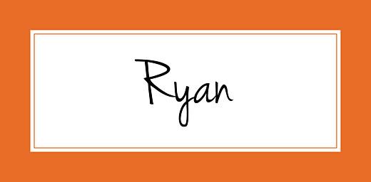 Wedding Place Cards Chic orange