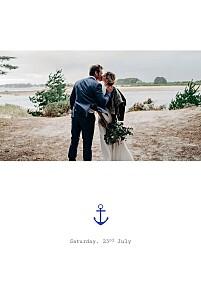 Nautical white wedding thank you cards