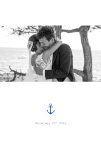 Wedding Thank You Cards Nautical white