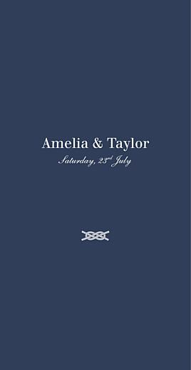 Wedding Menus Nautical blue