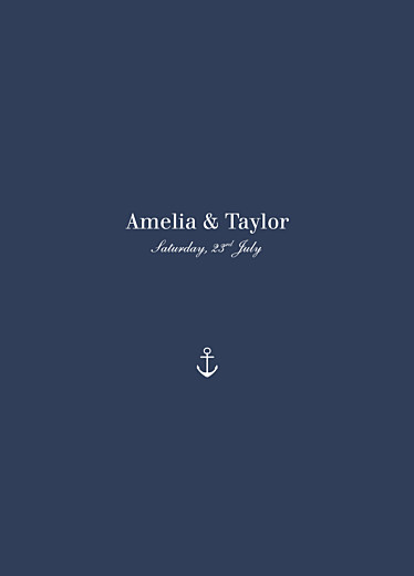 Wedding Order of Service Booklets Nautical blue