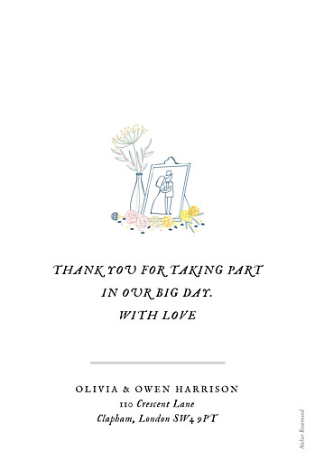Wedding Thank You Cards Touch of floral white