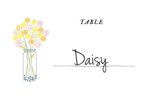 Table Numbers Touch of floral white