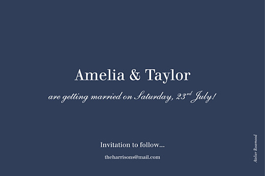 Save The Date Cards Nautical blue - Page 2