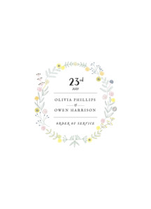Order of Service Booklets Touch of floral white