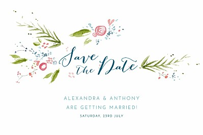 Save The Date Cards One spring day white finition