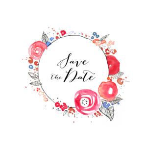 Save The Dates Romance white