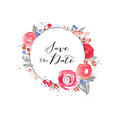 Save The Date Cards Romance white finition