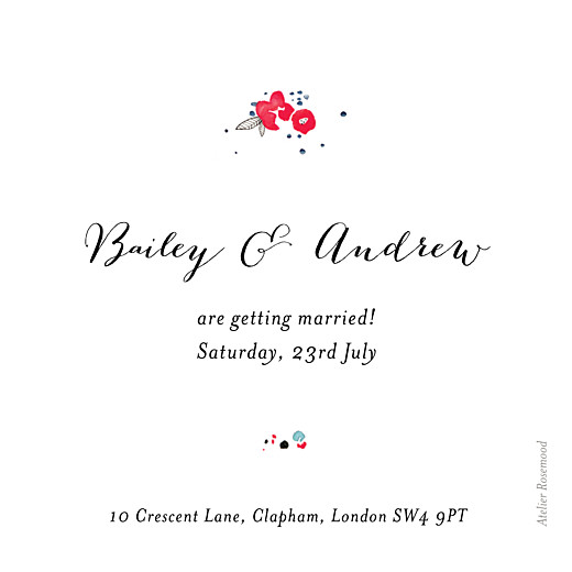 Save The Date Cards Romance white - Page 2