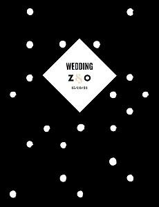 Wedding Invitations La vie en rose (foil) black
