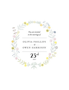Wedding Invitations Touch of floral white