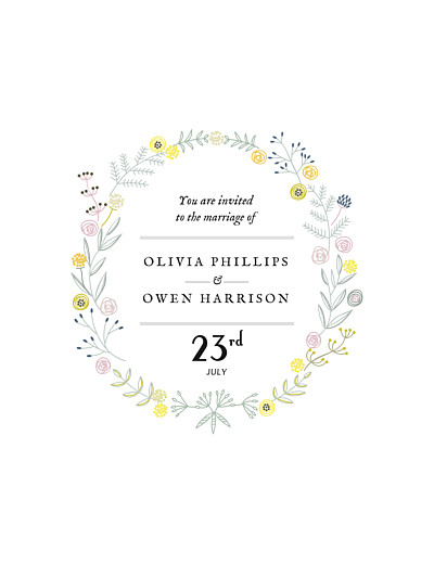 Wedding Invitations Touch of floral white finition